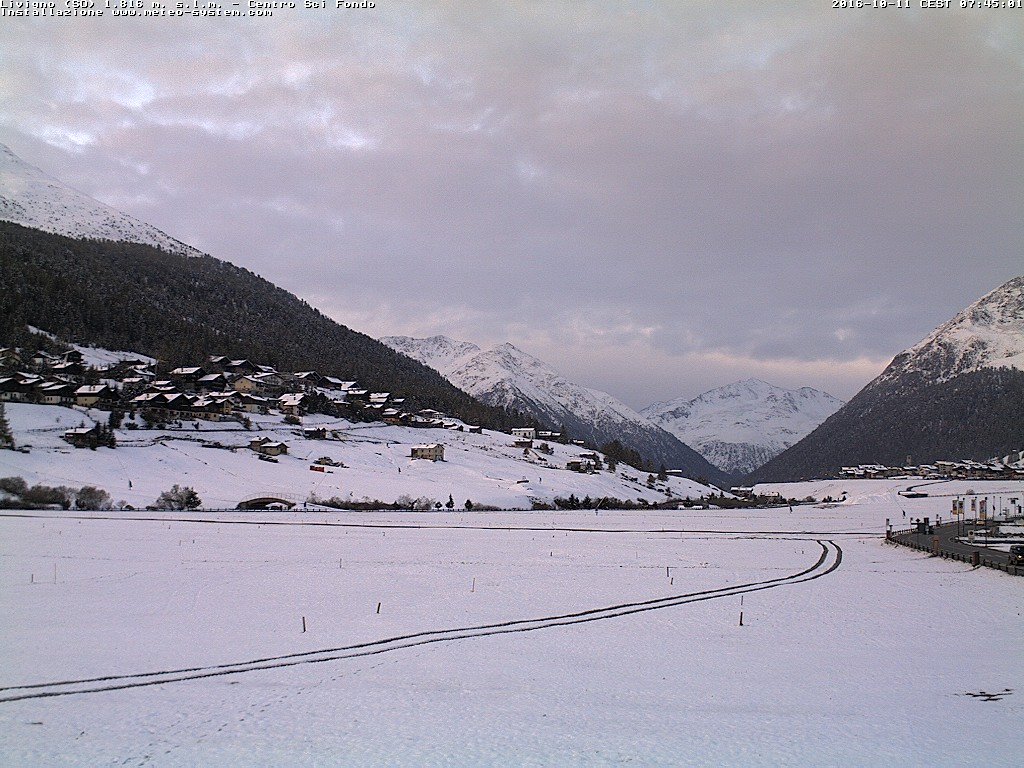 Sníh v Livignu