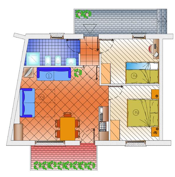 typy apartmánů