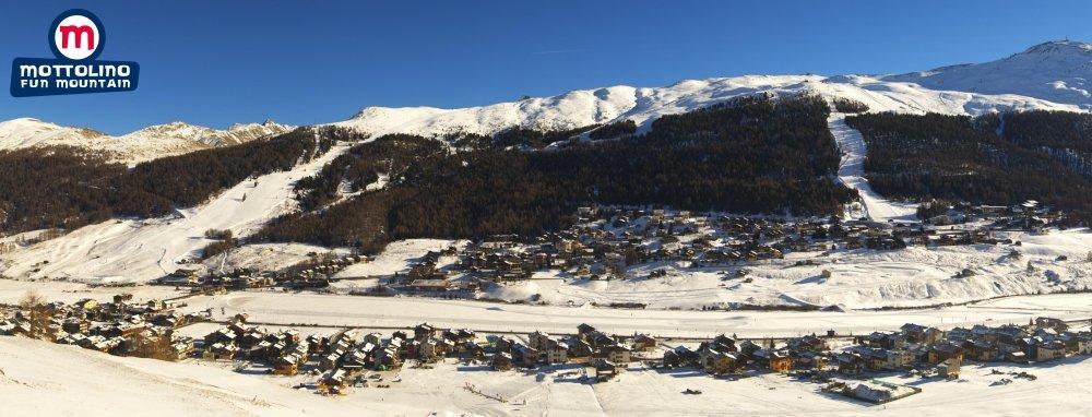 poprašek přírodního sněhu v Livignu